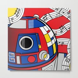 Luke Lichtenstein - Abstract Android Metal Print