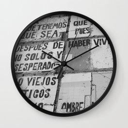 VIEJOS ROMANTICOS, STREET ART BARCELONA Wall Clock
