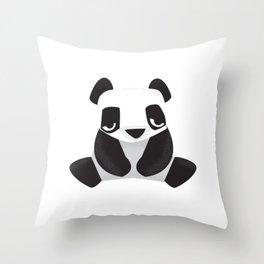 Sleepy Panda - Cute Animal Illustration Throw Pillow
