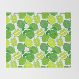 Lime Harvest Throw Blanket