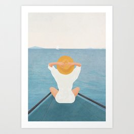 Summer Vacation I Art Print