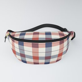 Plaid Red White And Blue Lumberjack Flannel Fanny Pack