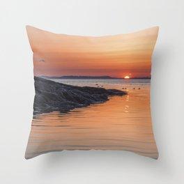 Plum Cove Sunset Throw Pillow