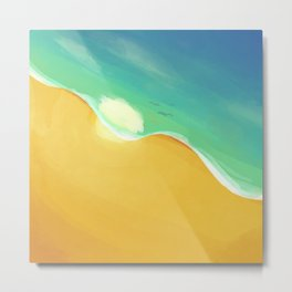 Beach Vibes Metal Print