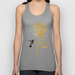 Hummingbird & Flower I Unisex Tank Top