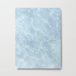 Baby Blue Silk Moire Pattern Metal Print