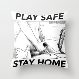asc 443 - Le joystick (Toying with Pong) STAY HOME Throw Pillow