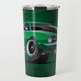 Classic American Muscle Car Cartoon Travel Mug