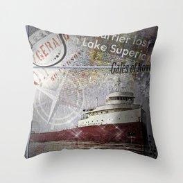 Edmund Fitzgerald Throw Pillow