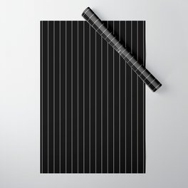 Black And White Pinstripes Lines Stripes Minimalist Stripe Line Wrapping Paper