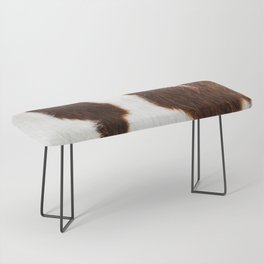 Cowhide Brown Spots Bench