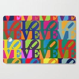 Love Pop Art Cutting Board