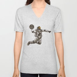 Basketball Astronaut | Sport Galaxy Team Universe Unisex V-Neck