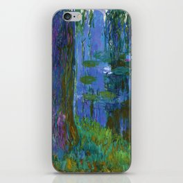 "Claude Monet ""Saule pleureur et bassin aux nymphéas"" (Weeping Willow and Water Lily Pond) iPhone Skin"