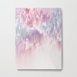 Falling Shades of purple and pink Glitch pattern Metal Print
