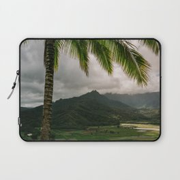 Hanalei Valley Lookout Kauai Hawaii | Tropical Island Nature Coastal Travel Photography Print Laptop Sleeve