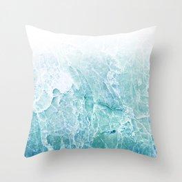 Sea Dream Marble - Aqua and blues Throw Pillow