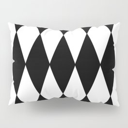 LARGE BLACK AND WHITE HARLEQUIN DIAMOND PATTERN Pillow Sham