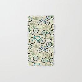 Bicycle Journey Blue Hand & Bath Towel