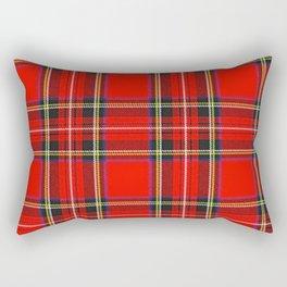 Royal Stewart Tartan Print Rectangular Pillow