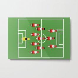 Soccer football team in red Metal Print