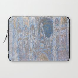 Rouen Cathedral, West Façade by Claude Monet Laptop Sleeve
