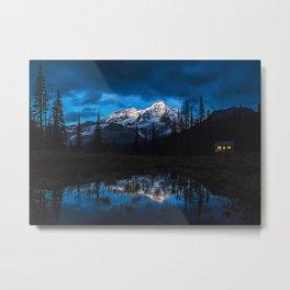 Last Light on the Mountain Metal Print