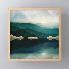 Waters Edge Reflection Framed Mini Art Print