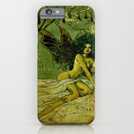 Vintage Parisian Green Fairy Absinthe Alcoholic Aperitif Advertisement Poster iPhone Case