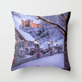 Historically Charged Hohenschwangau Castle Schwangau Germany Europe Ultra HD Throw Pillow