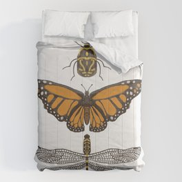 Bug, butterfly, dragonfly Comforters