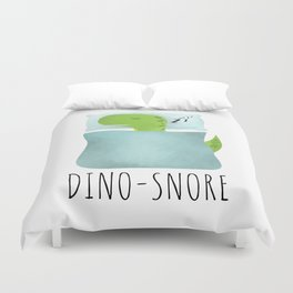 Dino-Snore Duvet Cover