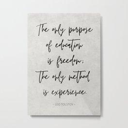 Classic Leo Tolstoy Quote Metal Print