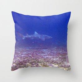 Watercolor Shark, Lemon Shark 01, St John, USVI, Come a Little Closer! Throw Pillow