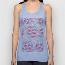 Elegant blush pink lavender ivory romantic roses floral Unisex Tank Top
