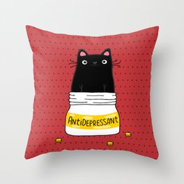 FUR ANTIDEPRESSANT Throw Pillow