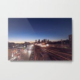 7 line in New York Metal Print