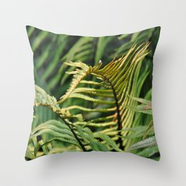 Silver Fern In Its Own Nature Throw Pillow