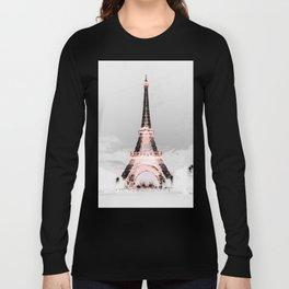 pariS Black & White + Pink copyright 2sweet4wordsDesigns Long Sleeve T-shirt