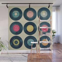 Vinyl Collection Wall Mural