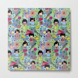 Japanese girls Metal Print