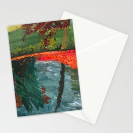 Leaf Litter in Lake Stationery Cards