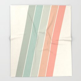 Trippin' - retro 70s socal minimal striped abstract art california surfing vintage Throw Blanket