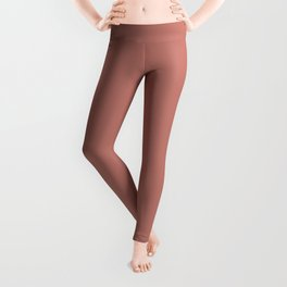 Deep Rose Pink Solid Color Pairs with Sherwin Williams Heart 2020 Forecast Color Coral Clay SW9005 Leggings