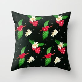 Shoujo Geisha Coffee Plant Throw Pillow