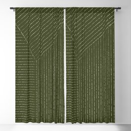 Lines (Olive Green) Blackout Curtain