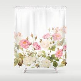 Vintage & Shabby Chic - Sepia Roses Flower Garden Shower Curtain