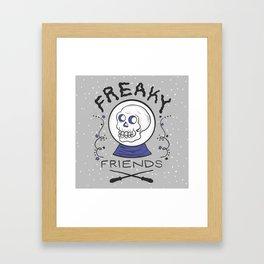 Freaky Friends Print Framed Art Print