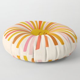 Sunshine – Retro Ochre Palette Floor Pillow