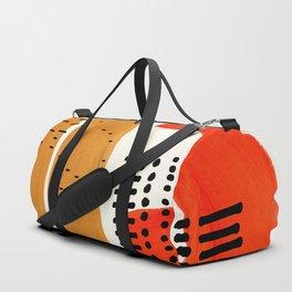 Mid Century Modern Abstract Minimalist Retro Vintage Style Fun Playful Ochre Yellow Ochre Orange  Sporttaschen